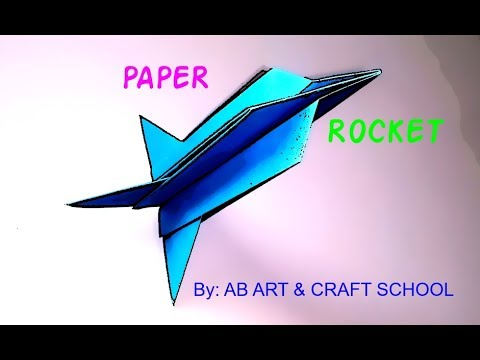 How to make paper rocket | Paper Plane | Paper Space Rocket | Paper Airplane