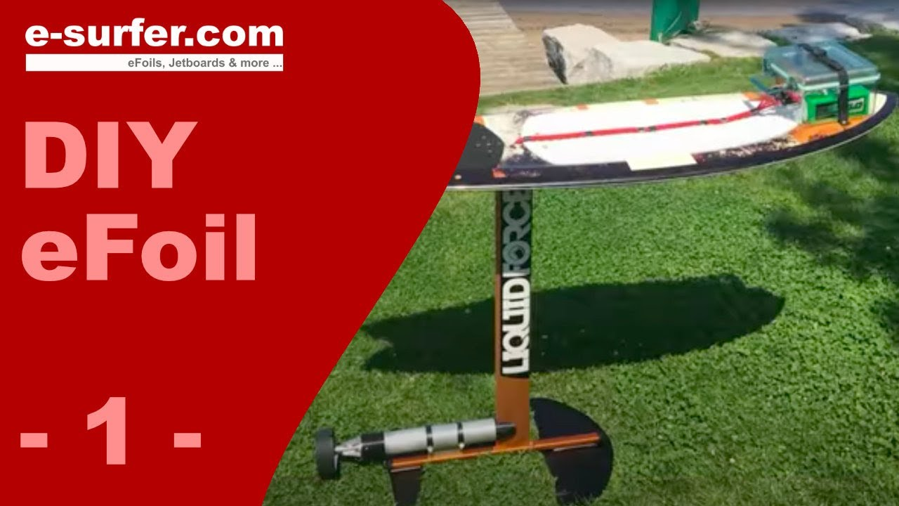 Diy Electric Surfboard Electric Hydrofoil Youtube
