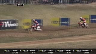MXGP of Latvia Pauls Jonass passes Jorge Prado
