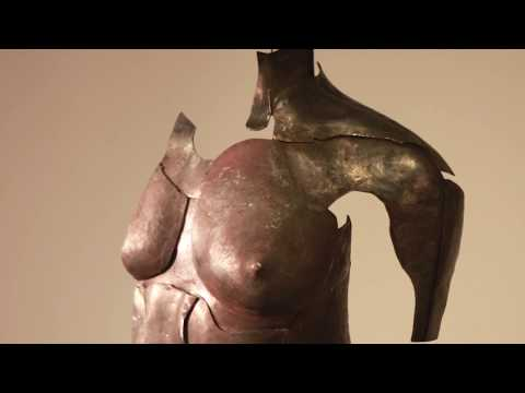 Reconstructed torso, steel sculpture, sculpting, forging and fabricating