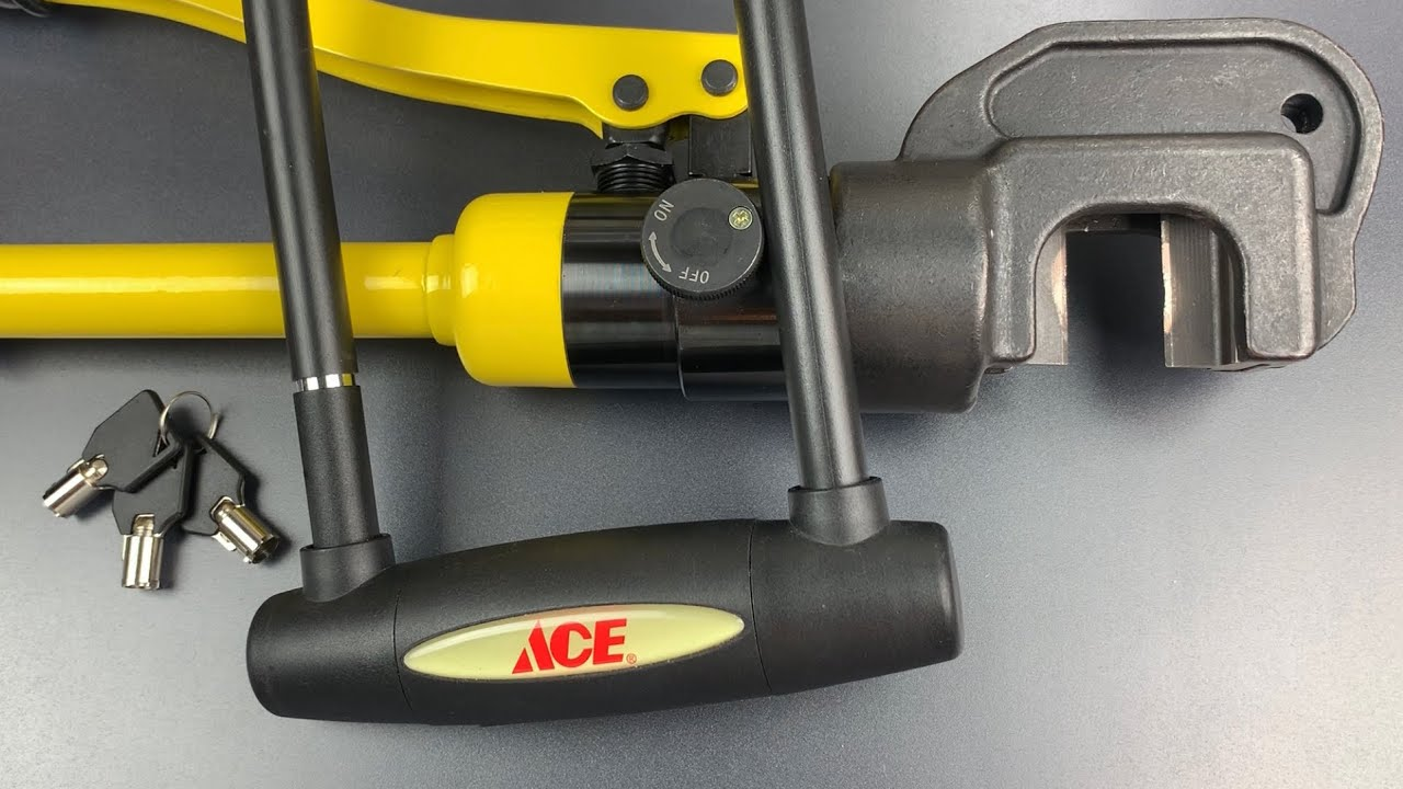 Hydraulic Cutter vs. Ace's 14mm Shackle Bicycle U-Lock