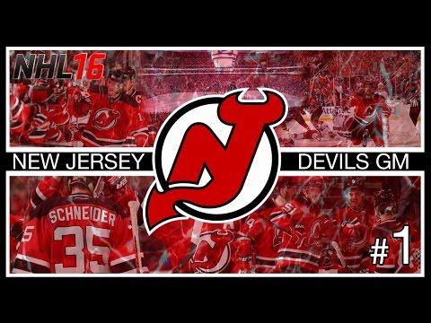 NHL 16: New Jersey Devils GM Mode #1 | 2016 Draft/Off/Pre-Season [PS4]