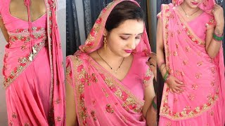 How To Drape Gujrati Style Saree Step By Step Perfectly | Lehnga Style | Pragati Up-to-date Fashion
