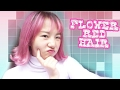 FLOWER RED / HOT PINK HAIR Tutorial Dgn FEVES Hair Color | CARA MENGECAT RAMBUT SENDIRI DIRUMAH
