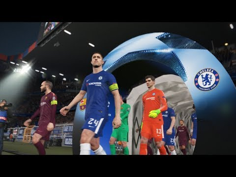 🔥 PES 2018 🔥 Chelsea vs FC Barcelona ● UCL - 20/2/2018 | PC Gameplay Simulation by Fujimaru