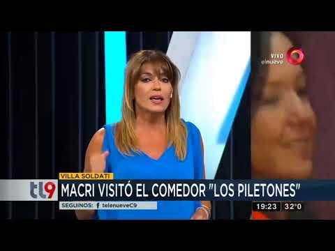 "Macri visitó el comedor ""Los piletones"""