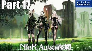 Nier Automata Gameplay Walkthrough Part 17 Copied City (PS4 PRO) 1080p