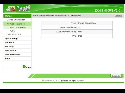 ضبط اعدادات روتر تى داتا الجديد بريدج وفك تشفيره ZXHN H108N V2 5 TEDATA