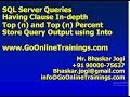 04 SQL Server Queries - Having Clause, Usage of Top and Store Result Set using Into