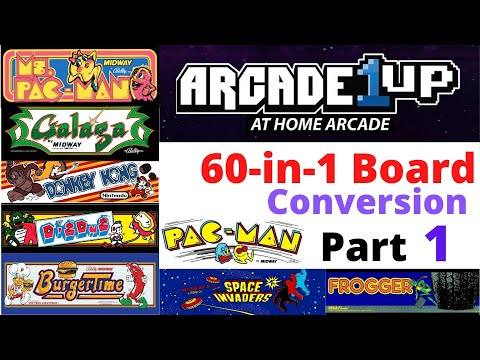 Part 1 - A1UP - Cabinet Conversion to 60 in 1 Board - MultiCade - iCade - Arcade1UP from Scott Farrar
