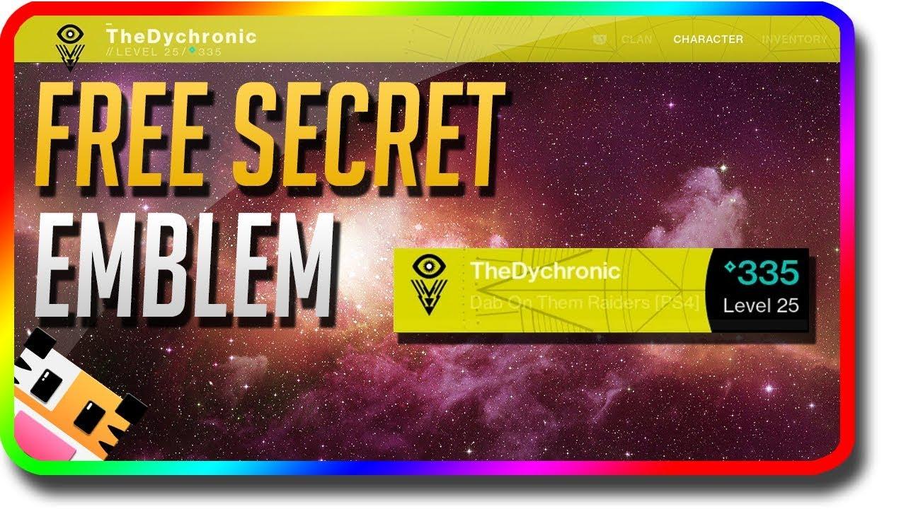 5f3ae63ddac Destiny 2 - FREE Secret Visionary Emblem (Destiny 2 Secret Destiny Emblems)