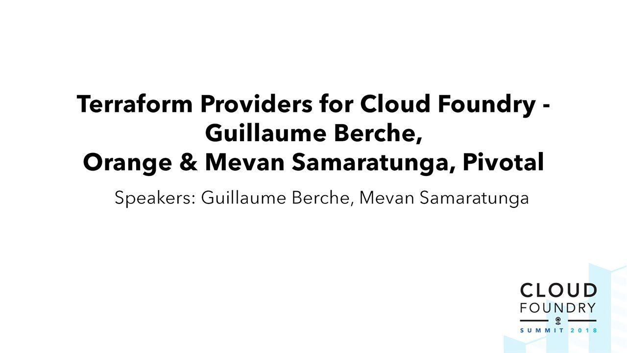 Orange Makes Novel Use of Cloud Foundry for Best Developer