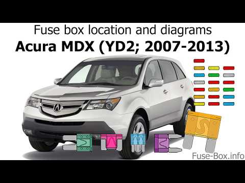 Fuse box location and diagrams: Acura MDX (YD2; 2007-2013) - YouTubeYouTube