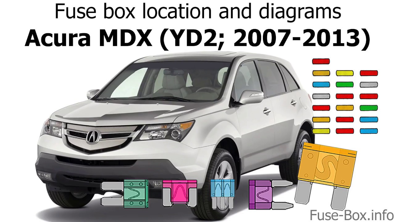 Fuse box location and diagrams: Acura MDX (YD2; 2007-2013) - YouTube 2005 Acura Mdx Fuse Box YouTube