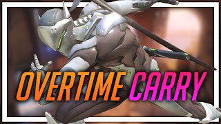 [Overwatch] Overtime Carry (Genji, some Hanzo)