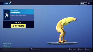 Fortnite headbanger on bannana skin lol