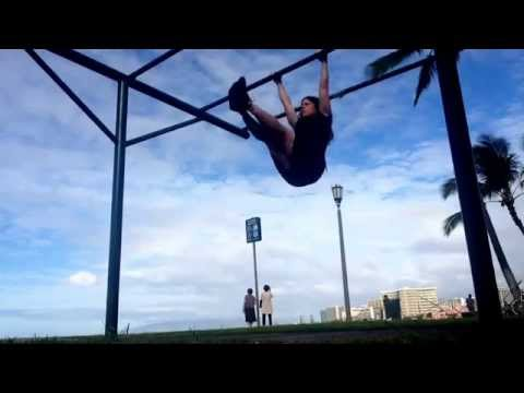 Waikiki beach pull ups and stuff :) Dec 17, 2014