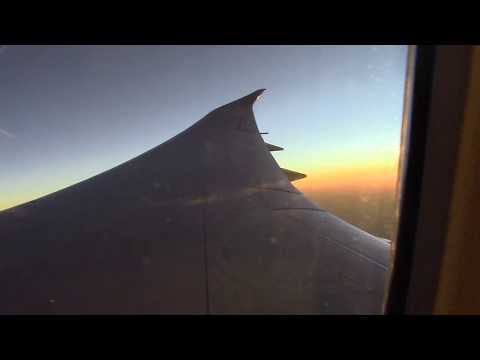 OMAN AIR 787-9 Afternoon flight over Persian Gulf / Arabian Gulf