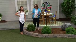Plow & Hearth 6-foot Feather Garden Spinner on QVC