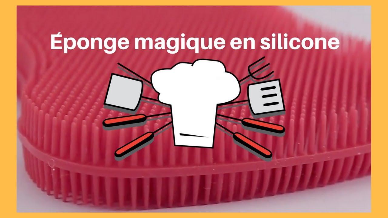 eponge magique en silicone video test eponge antibacterienne pour la cuisine