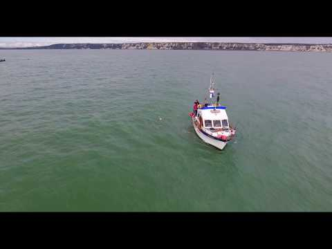 Optmist Pilot Boat , Dublin Aquanuts English Channel swim