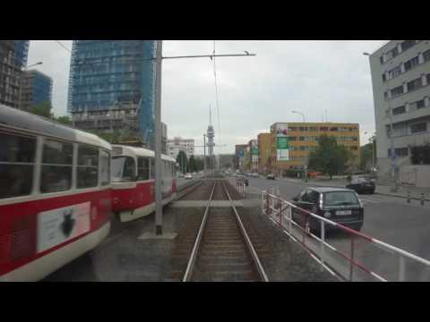 PRAGUE, tram line 9 in driver cab. KOKO verze