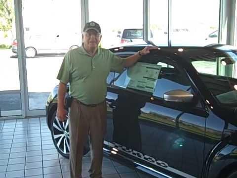 Big Jim and the New Beetle at Bud Brown Volkswagen Kansas City