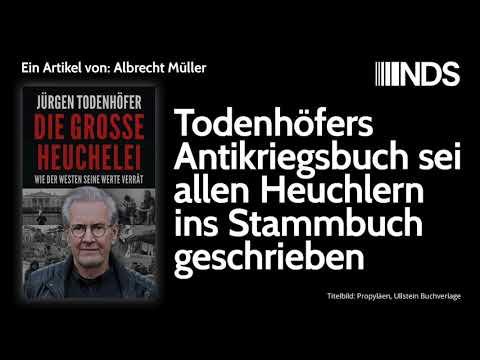 Todenhöfers Antikriegsbuch sei allen Heuchlern ins Stammbuch geschrieben | Albrecht Müller