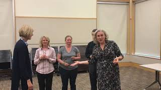 Laughter Yoga - Laughter Lotion Exercise with Laughter Coach Michele Caskey