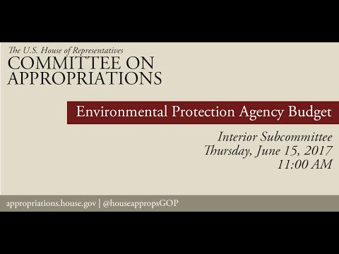 Hearing: Environmental Protection Agency Budget (EventID=106089)