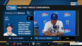 Yost on Tim Hill: 'He's been spectacular'
