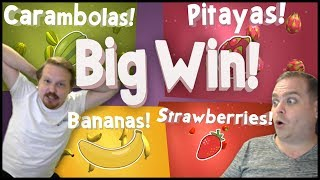 Winning Big on Fruit Warp - Several Bonuses!