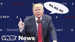 "YouTube動画:Trump Keeps Saying ""No, No, No"""