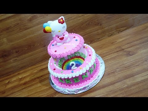 How to Decorate Hello Kitty Birthday Cake Fastest
