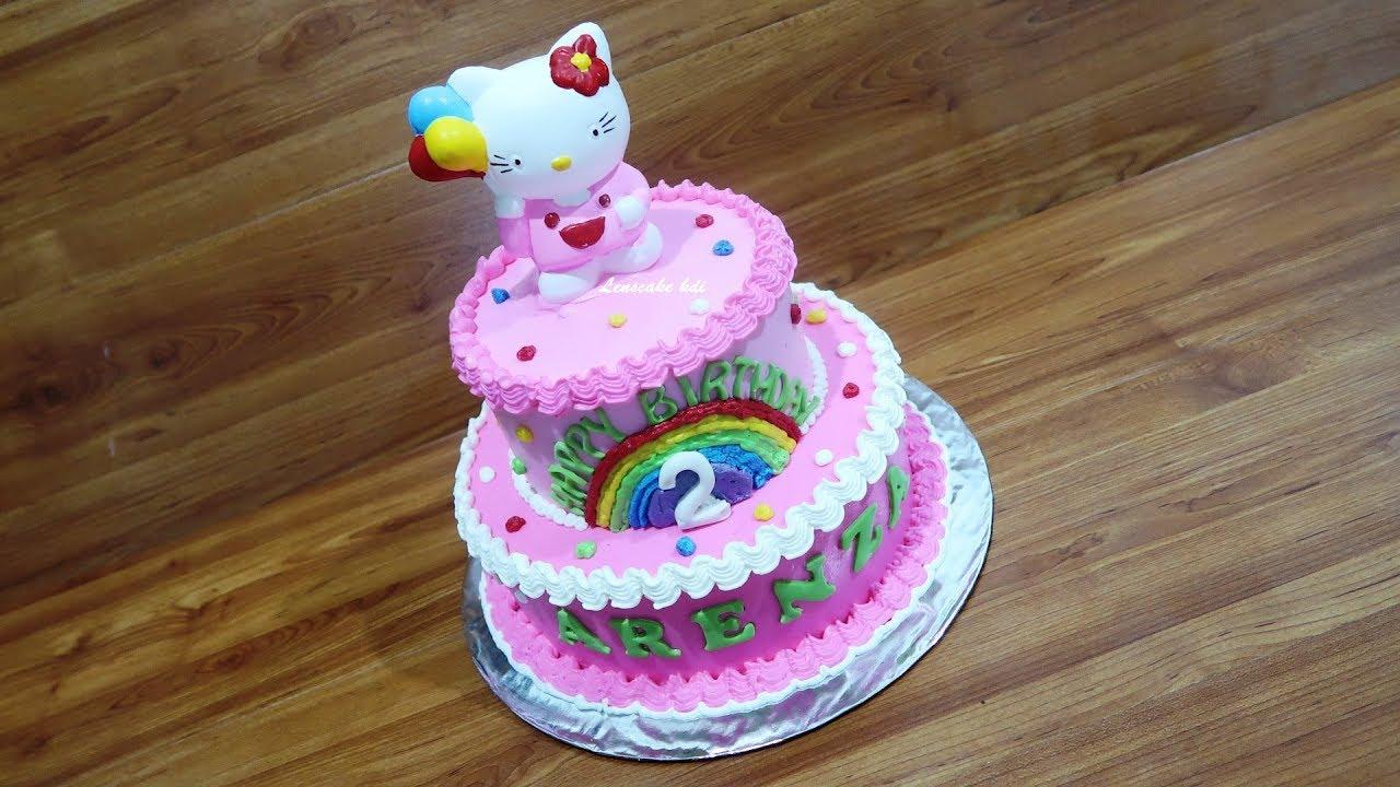 How To Decorate Hello Kitty Birthday Cake Fastest