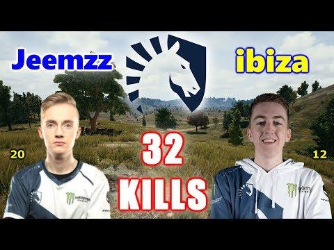 Team Liquid Jeemzz & Ibiza - 32 KILLS - Mini14+M416 - DUO - PUBG