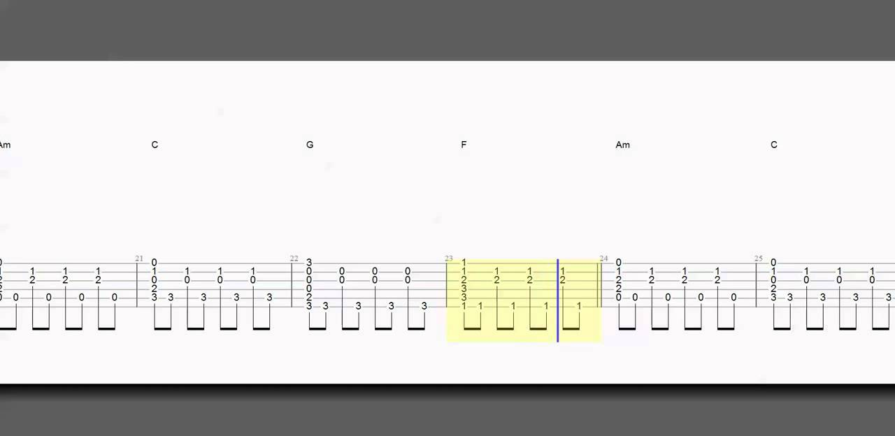 Guitar tab chords counting stars slower how to play youtube hexwebz Images