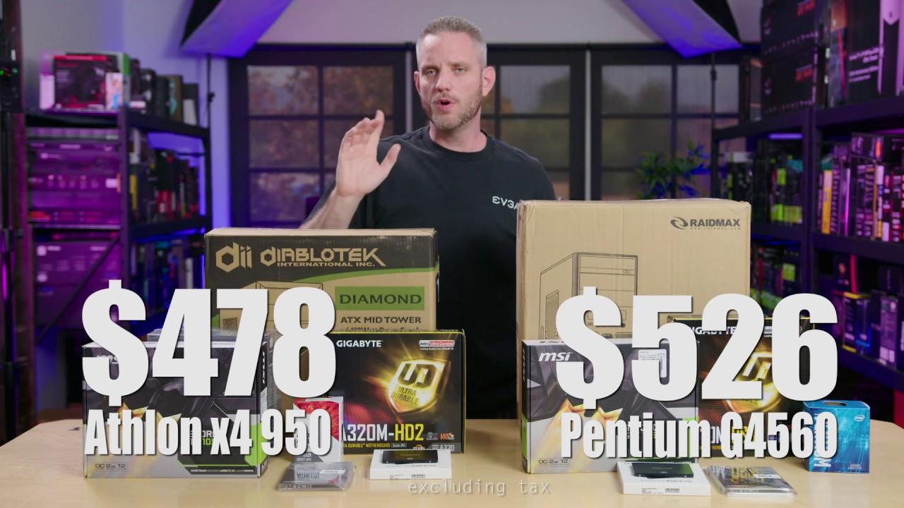 Ultimate Budget Gaming PCs - AMD vs Intel
