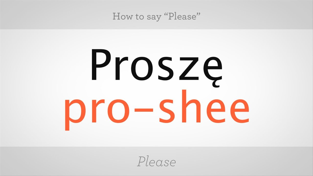 How To Say Please In Polish Polish Lessons Youtube