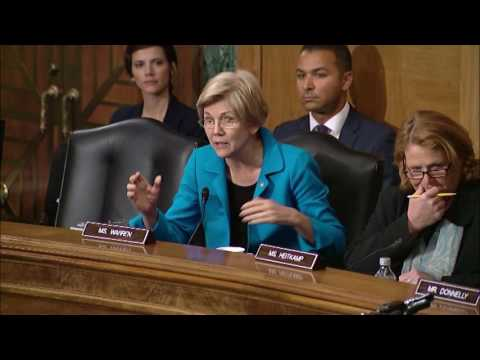Senator Warren at Banking Committee Hearing on Iran Sanctions
