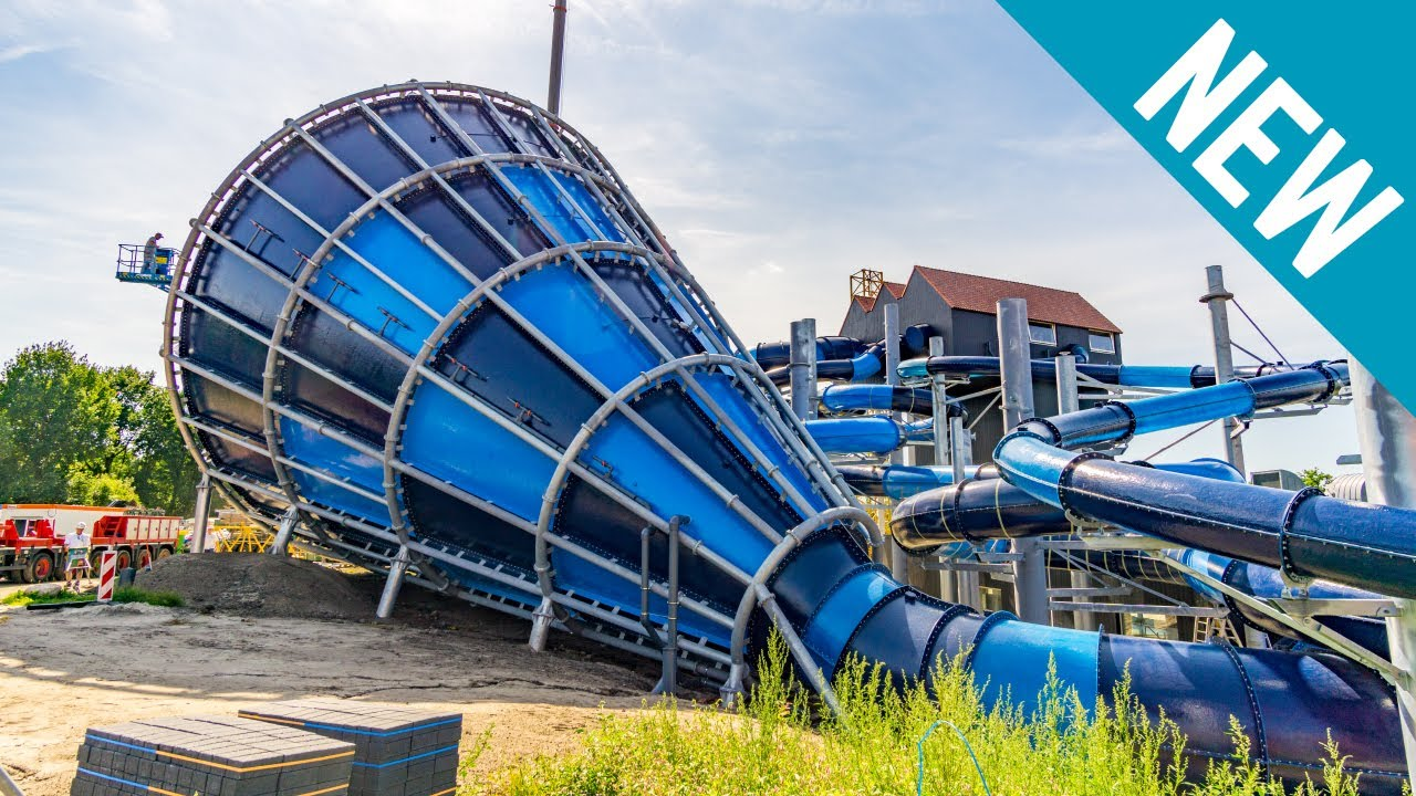 Nooitgedacht Zwembad New Waterslides At Hof Van Saksen The Netherlands New 2017 Gopro Pov