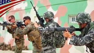 Speed Reload Compete with US Marines & Korean Marines Soldiers - アメリカ海兵隊と韓国海兵隊の兵士のスピードリロード競争