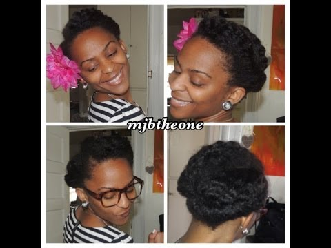 Natural Hair Tutorial 2 Simple Stylish Roll Tuck Pin Hairstyles