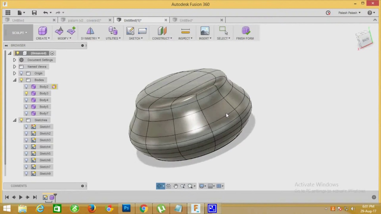 How to Create a T- Spline Fill Hole object in Fusion 360