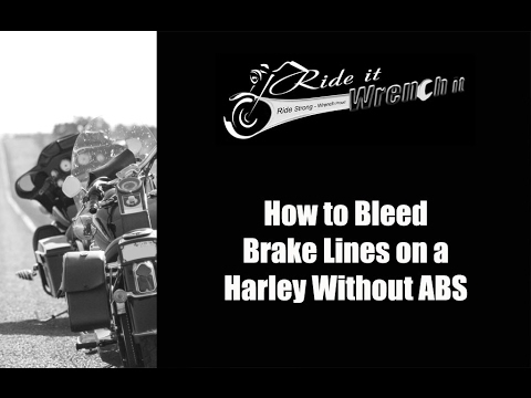 how to bleed brake lines on a harley without abs youtube. Black Bedroom Furniture Sets. Home Design Ideas