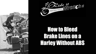 How to Bleed the Front and Rear Brakes on a Harley Without ABS