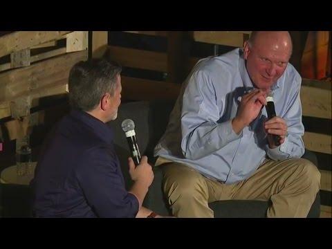 Dan Gilbert and Steve Ballmer speak at the annual Detroit Homecoming event