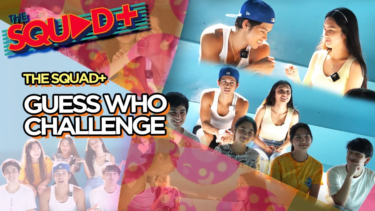 GUESS WHO CHALLENGE • KYCINE with RENSHI, ALYANNA, RAVEN & MARGAUX | The Squad+