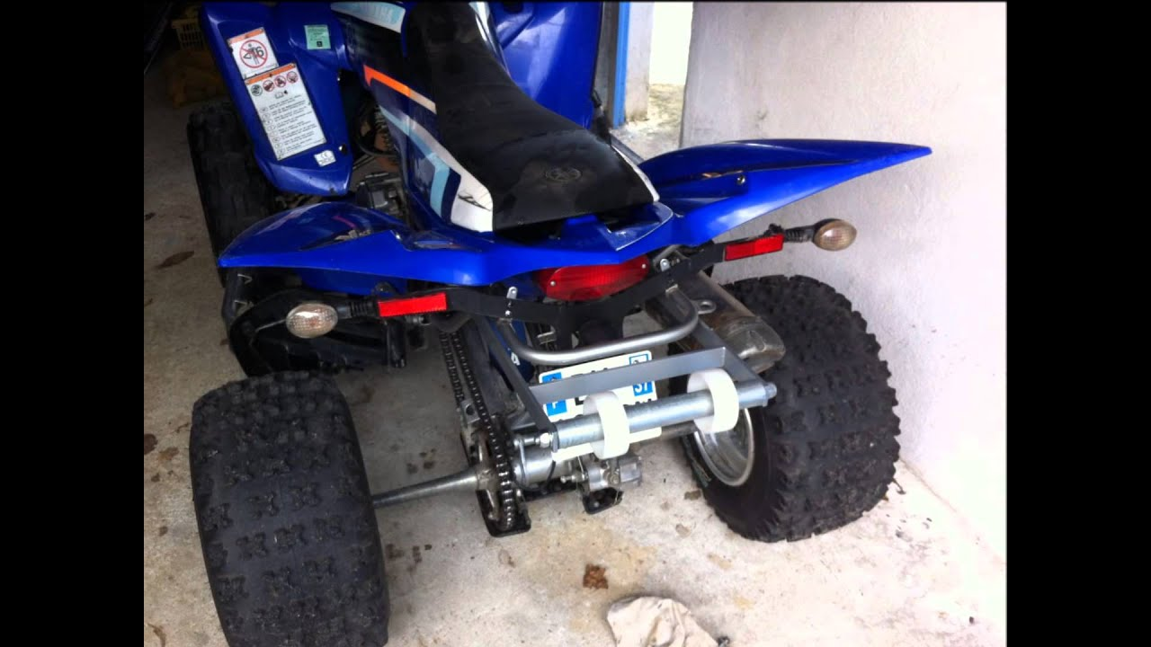 Grab Bar Stunt Wheeling Quad Yamaha 350 Raptor Youtube
