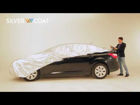 Silver coat - sun protection car system: Installation on sedan